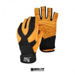 X-PLUS護腕健身手套 - 黃褐色