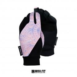 抗UV fit 50+  印花觸控防曬手套-四色