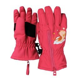 兒童五指/併指保暖手套 - 小貓