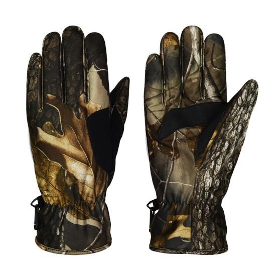 印花保暖通勤手套 - 叢林迷彩