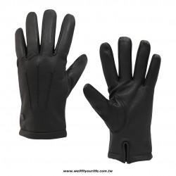 綿羊皮手套-三線 - 黑色