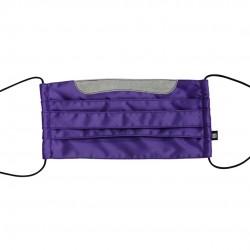 乾爽立體口罩/加寬尺寸 - 斜紋紫