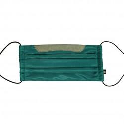 乾爽立體口罩/加寬尺寸 - 斜紋綠