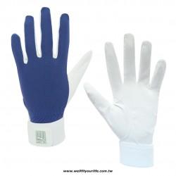 棒壘球守備手套 - 白/藍色