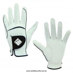 【女款】綿羊皮高爾夫手套- 雙手 - 白色