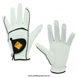 【男款】綿羊皮高爾夫手套 - 單左手 - 橘色
