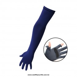長版三段式手套 - 海軍藍
