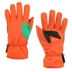 3M印花防風防水通勤手套 - 粉橘