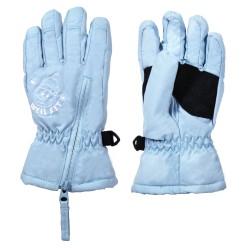 兒童五指保暖手套-小雪人-兩色