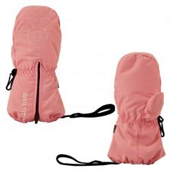兒童併指保暖手套-小Q鹿 - 粉紅色